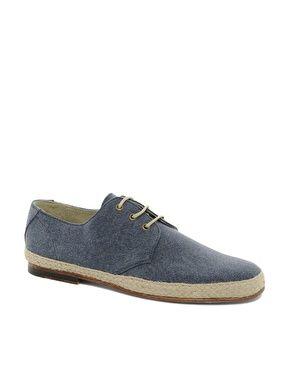 ASOS leather sole jute wrap canvas derby shoes