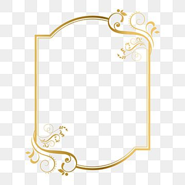 Golden Frame Png Vector Psd And Clipart With Transparent Background For Free Download Pngtree In 2021 Ornament Frame Clip Art Frames Borders Islamic Pattern