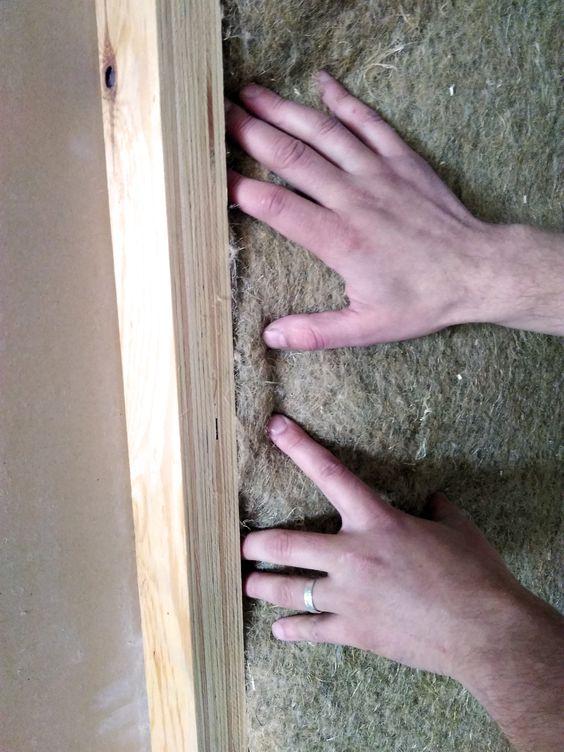 Hemp insulation plates from winter retted Finnish fiber.