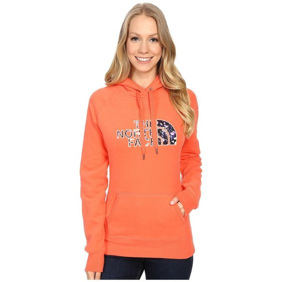 The North Face Avalon Crystal Floral Pullover Hoodie Women's... ($55) ❤ liked on Polyvore featuring tops, hoodies, drawstring hoodie, floral pullover hoodie, hooded pullover, the north face hoodies and red hooded sweatshirt