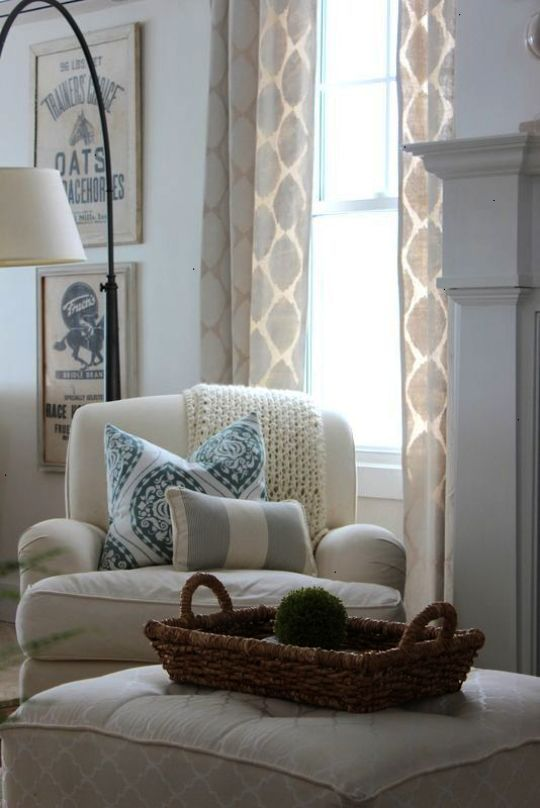 Bay Window Curtains Vidal Living Room Interior Design Via Houzz