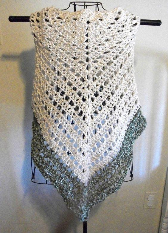 Lace Triangle Shawl Crochet Pattern : Lacy Crochet Triangular Shawl Pattern crochet lace ...
