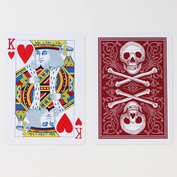 Conjuring Arts Playing Cards - Historic skulls adorn a custom card set from the elusive center for magic