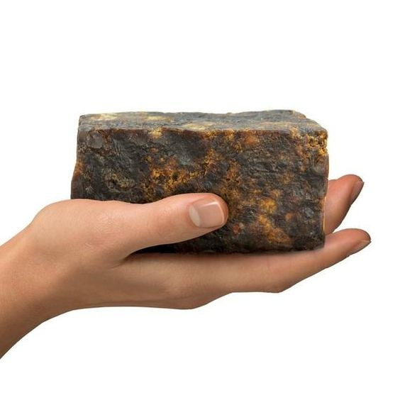 6 Oz AFRICAN BLACK SOAP Raw Fresh and Sealed Raw Vegan Organic Fair Trade Market Natural Ingredient, Great for Face and Body