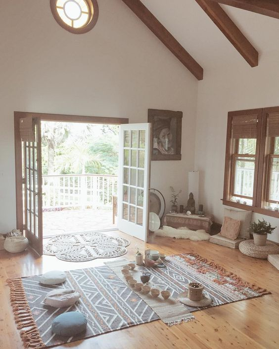 22 Meditation Spaces That Will Inspire You To Create Your Tranquility Oasis In Your House My Desired Home Home Yoga Room Meditation Rooms Meditation Room Decor