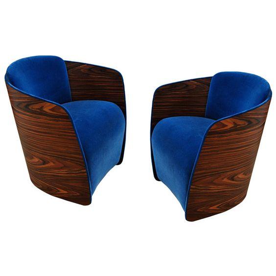 royal blue + wood