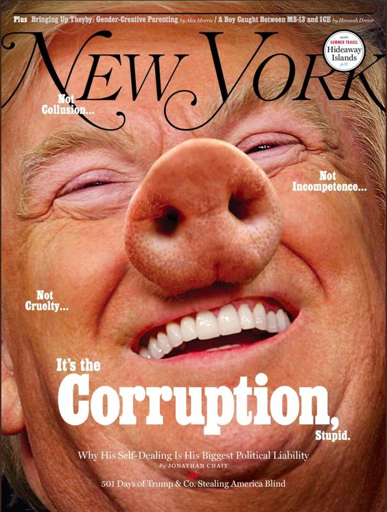 États-Unis. Trump, cochon corrompu | Courrier international