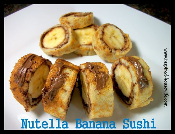Inspired-Housewife: Nutella Banana Sushi {Gluten Free}