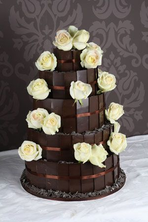 dark chocolate wedding cakes chocolate and cakes on 13339