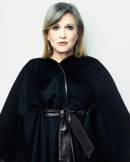 Carrie Fisher photographed for TIME on October 27, 2015 in Los Angeles.