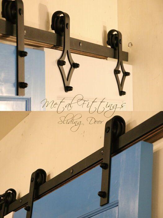 楽天市場 ドア ドア用レール金具 スライディングドア用 室内用 スライディングドア 引き戸 引き戸レール 室内ドア用金具 アイアン カントリー調 おしゃれ 店舗 リフォーム