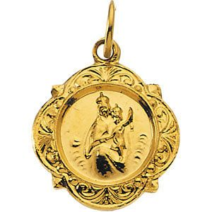 13kt Yellow 12.14x12.09mm Scapular Medal | 1.15 Grams | Jewelry Series: R16985