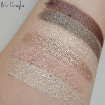 essence all about nude palette swatches