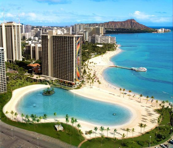 "Hilton Hawaiian Village"" on Waikiki Beach. Can say I've been there now :)"