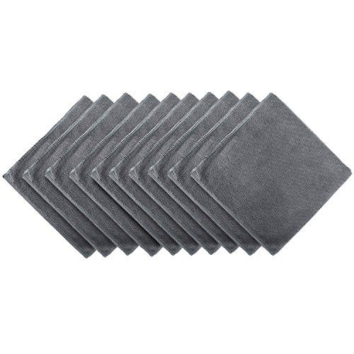 senza lanugine grigio scuro super assorbenti moto e in ufficio ideali per auto 10 pezzi grandi 40x40 cm BONORUM/® Panni in microfibra