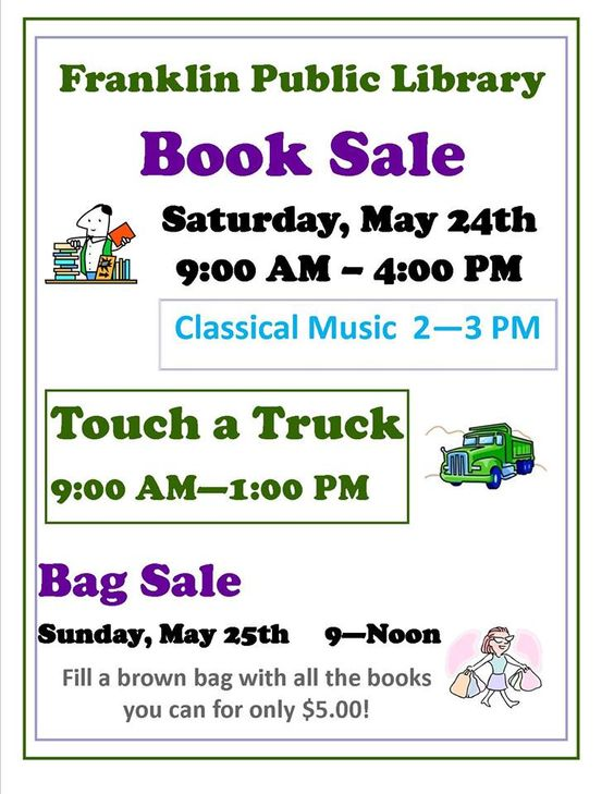 Franklin Public Library Book and Bag Sale, May 2014