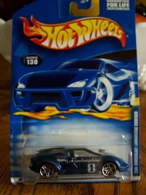 HOT WHEELS 2001 COLLECTOR # 130  25TH ANNIVERSARY LAMBORGHINI COUNTACH   FREE SHIPPING!!