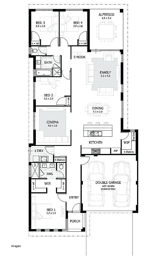 Best House Plans Design Ideas For Home Wonderful Narrow Lot House Plans Single Story Modern House Plans Single Story Pl Denah Desain Rumah Desain Rumah Desain