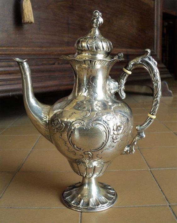 Small milk jug or teapot coffee pot in silver 800 Silver or milk jug