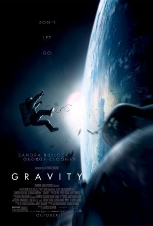 Gravity with Sandra Bullock. movie. movies. art. poster