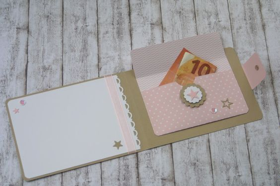 Geldgeschenke - Geldbörse, Karte, Geldgeschenk zur Geburt - ein Designerstück von Das-Werk-der-Feen bei DaWanda