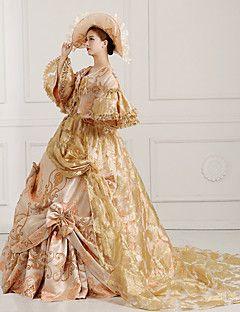 steampunk®georgian Gold viktorianischen Parteikleid Marie Antoinette wholesalelolita Rokoko Prinzessin Kleid
