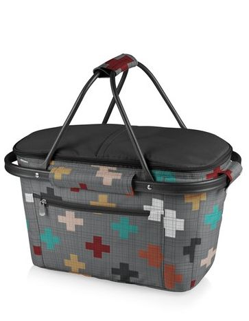 cute patterned collapsible picnic basket