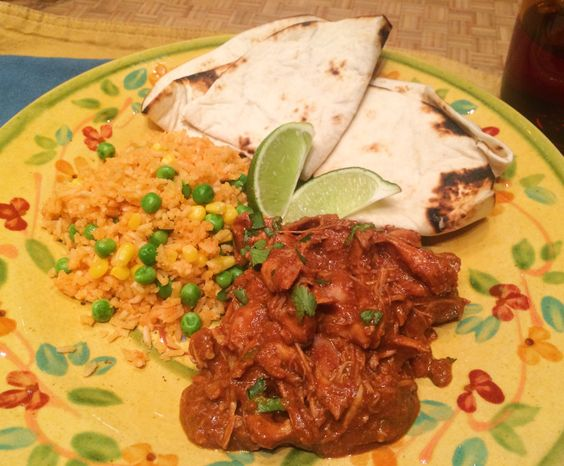 Set it and forget it: Crockpot Chicken Mole. Perfect for a chilly snow day or for feeding a crowd!