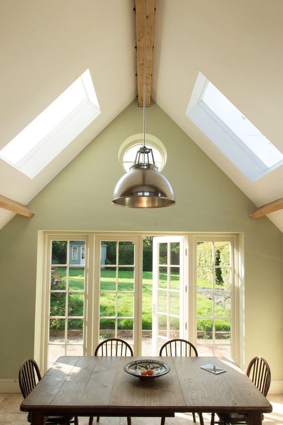 Vaulted Ceilings Farrow And Ball Cooking Apple Green