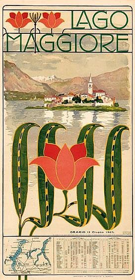 Vintae Travel Poster - Lago Maggiore - Italy - 1903.
