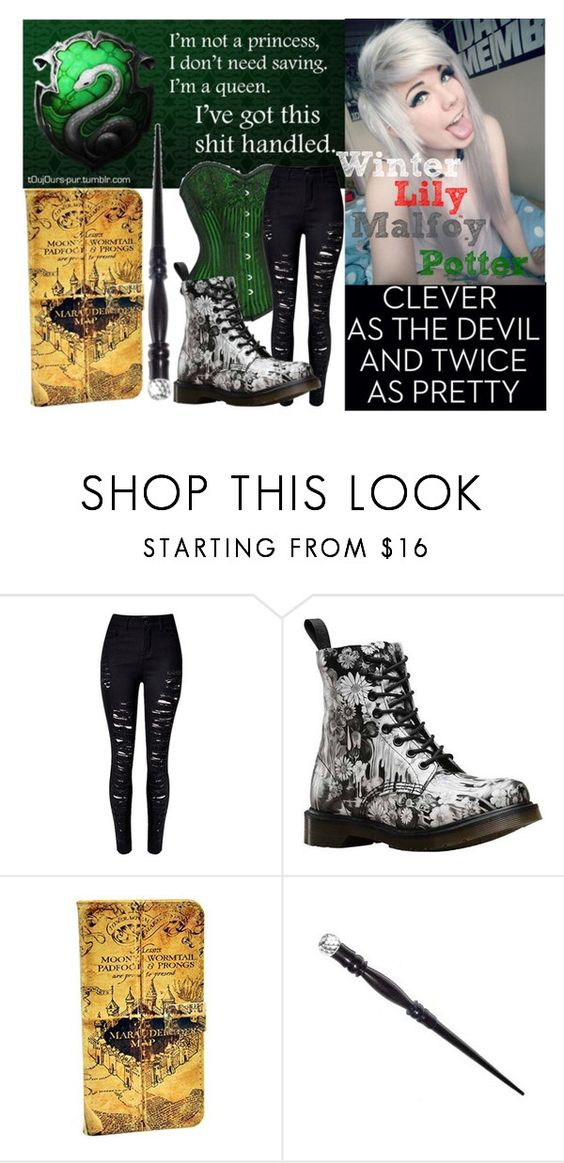 """""""Drarry's Daughter"""" by makenzi-sixx on Polyvore featuring WithChic and Dr. Martens"""