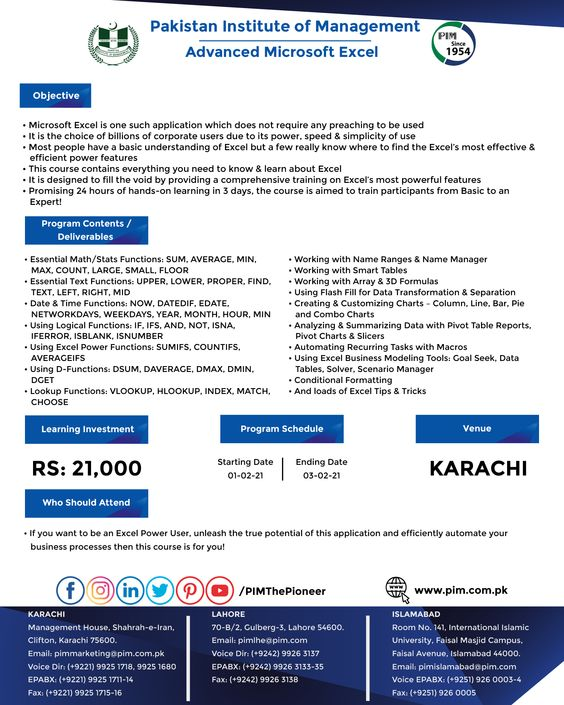 Pin By Pakistan Institute Of Manageme On 2021 Week 05 Morning Training Programs In 2021 Change Management Problem Solving Training Programs