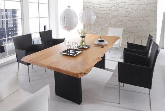 Holztisch modern  Esszimmer, Massiv Holztisch | Esszimmer | Pinterest | Interiors ...