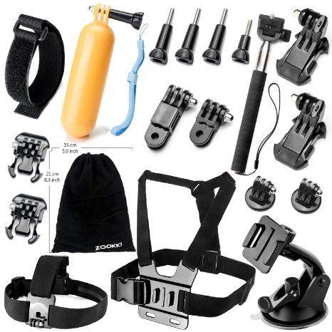 Zookki Camera Accessory Kit for GoPro Hero 4/ 3/ 3/ 2/ 1/ SJ4000/ SJ5000/ SJ6000 (19 Items) - Price: $6.29 ship... #LavaHot http://www.lavahotdeals.com/us/cheap/zookki-camera-accessory-kit-gopro-hero-4-3/115267