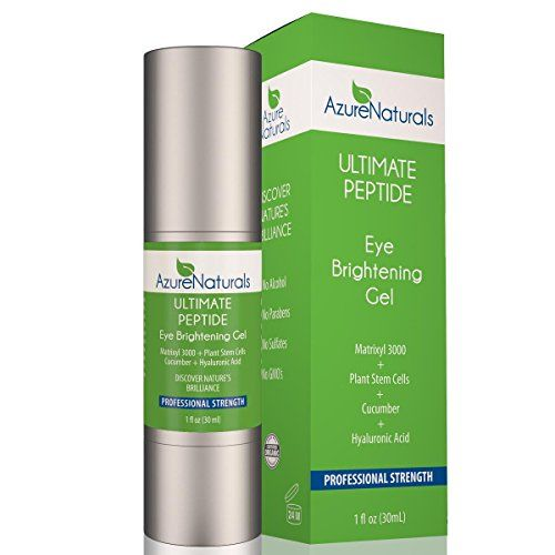 Azure Naturals - Matrixyl 3000 CUCUMBER PEPTIDE Eye Gel - Eye Cream with Plant Stem Cells & Advanced Anti Aging Anti Wrinkle Properties to Address Dark Circles, Puffiness and Wrinkles! 100% Natural! Azure Naturals http://www.amazon.com/dp/B00PIDDE1G/ref=cm_sw_r_pi_dp_g-gIwb0Q9ZNCZ