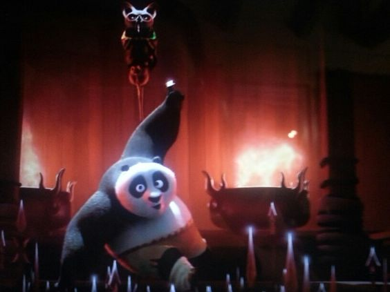 Kung Fu Panda 3 ,Po with Master Shifu