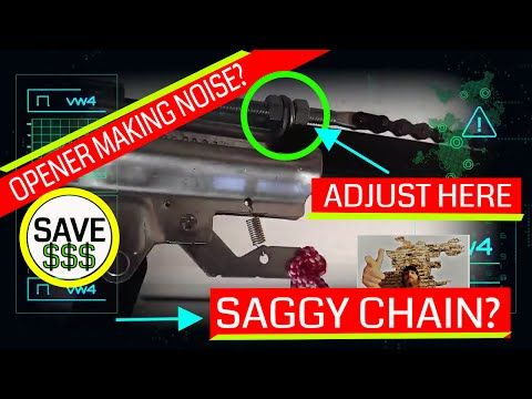 How To Tighten A Loose Sagging Chain Garage Door Opener Repair Youtube Garage Door Design Garage Doors Garage Door Opener