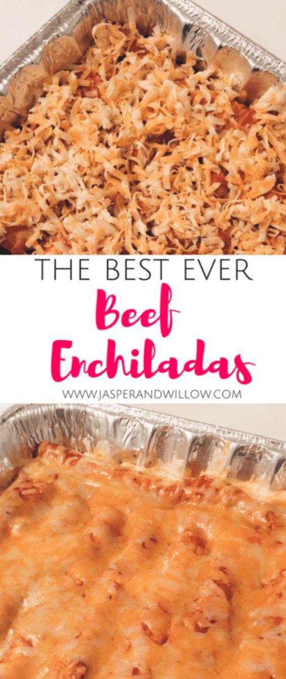 Freezer Friendly Beef Enchiladas