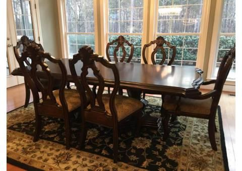 Refectory Oak Dining Table And Ladder Back Chairs San Diego Used Furniture For Sale Dining Room Table Formal Dining Room Table Dining