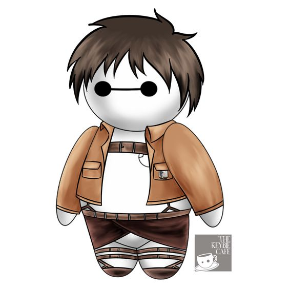 #CosplayerBaymax: Baymax Reimagined as Popular Anime Characters (Eren Jaeger)