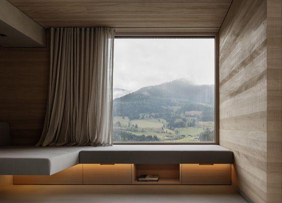 Knistern im Kamin - Einfamilienhaus von LP Architektur - schlichtes sauna design holz seeblick