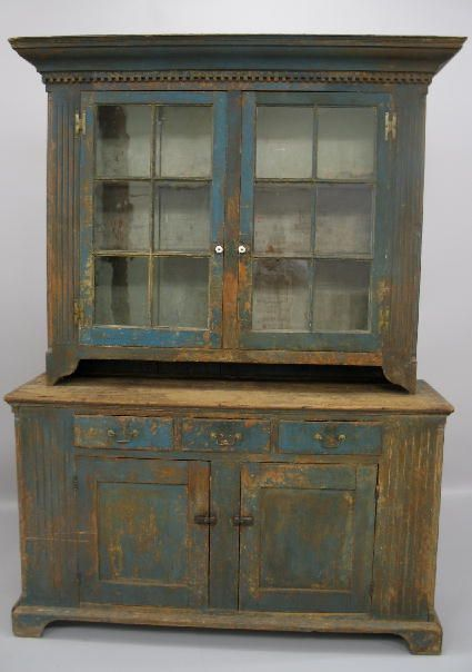 Old Country Painted Chippendale Cupboard...from Pennsylvania.