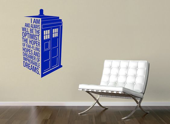 Dr Who's Tardis Sticker Quote - Police Call Box Quote Decal - sticker / wall art 13.5 x 23 on Etsy, $24.00