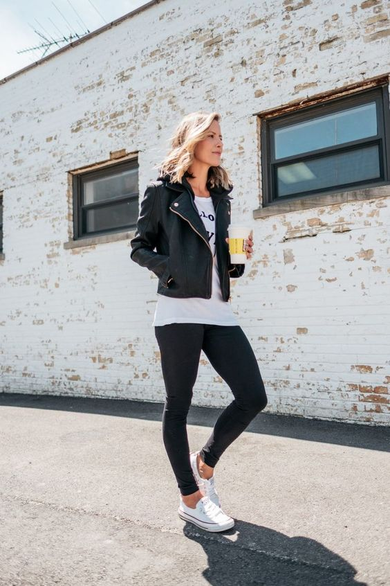 Suzanne of My Kind Of Sweet shares 3 Ways To Style A Moto Jacket with Nordstrom for the Nordstrom Anniversary Sale | my kind of sweet | outfit ideas | women's fashion | what to wear | mom style | date night style @nordstrom #nordstrom #fashion #style
