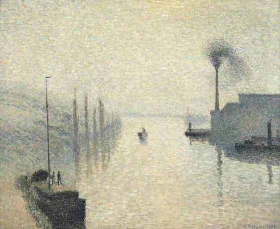 """Lacroix, Rouen, Fog Effect,""Camille Pissarro, 1858"