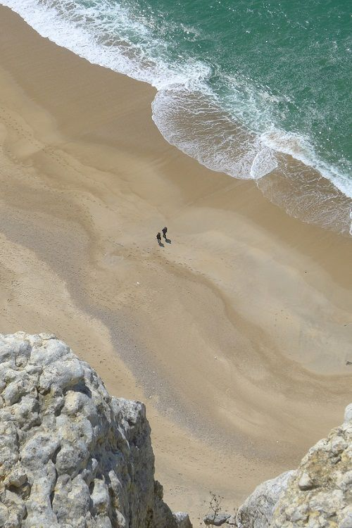 The beach at Nazare in Portugal: