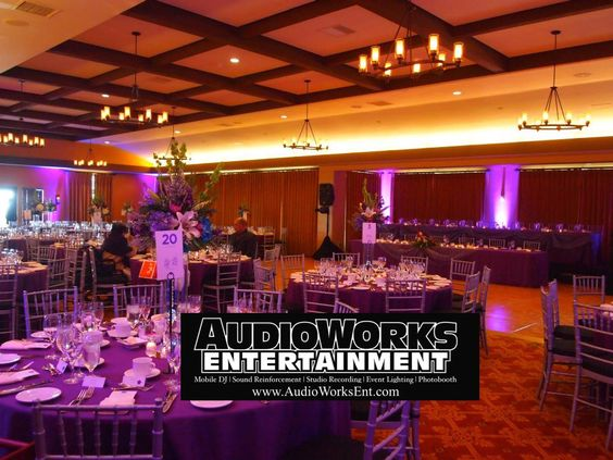 Event lighting provide by AudioWorks Entertainment