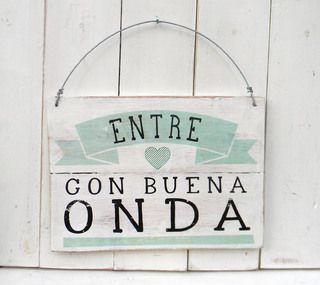 Letreros Vintage Buena Onda Ideas Para Nuestro Nido De