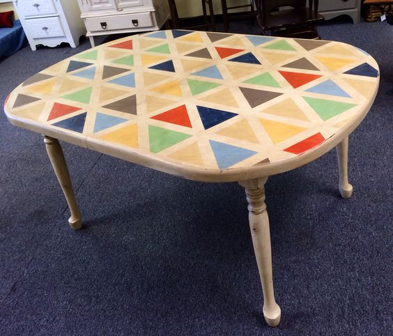Diy Painting Kitchen Table And Chairs: Mosaic Kitchen Table Distressed White Table Diy Painted