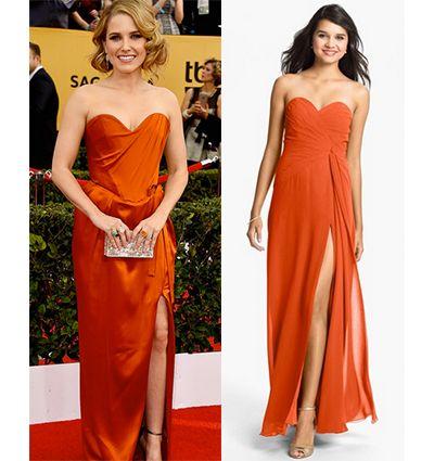 Who knew orange could look so good? Get The Look: SAG Awards 2015 | https://blog.strongbark.com/get-look-sag-awards-2015/?utm_source=Pinterest&utm_medium=SocialMedia&utm_campaign=sagawards